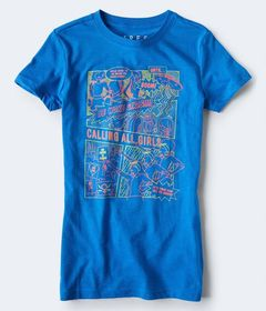 Aeropostale Free State Calling All Girls Graphic T