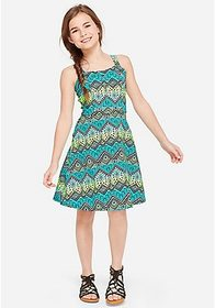 Justice Pattern A-Line Dress