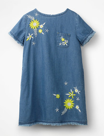 Boden Embroidered Denim Dress