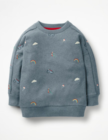 Boden Embroidered Slouchy Sweatshirt