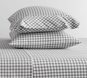 Pottery Barn Gingham Check Organic Pillowcases - C