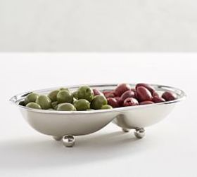 Pottery Barn Harrison Two Section Condiment Bowl
