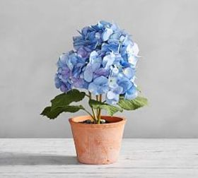 Pottery Barn Faux Potted Hydrangea - Blue