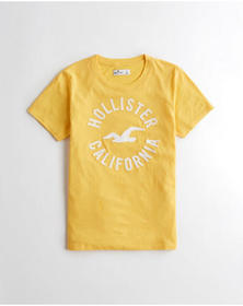Hollister Logo Graphic Tee, YELLOW