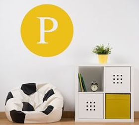 Pottery Barn Circle Letter Wall Decal