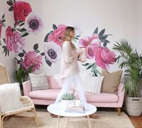 Pottery Barn Peony Leaves Wall Decal