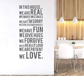 Pottery Barn In This House We Do Wall Decal