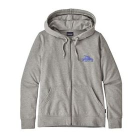 W's Small Flying Fish Ahnya Full-Zip Hoody, Stone