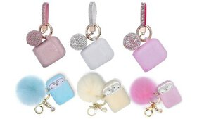 AirPod Silicone Protective Case with Keychain Set