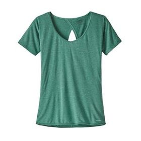 W's Short-Sleeved Mindflow Shirt, Beryl Green (BRY