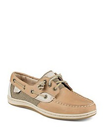 Sperry Songfish Leather Boat Shoe LINEN OATMEAL