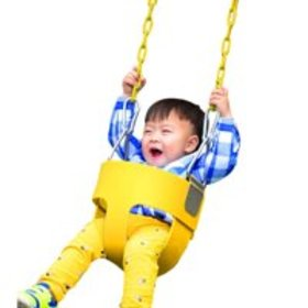 LEANO Full Bucket Swing Set With Coated Chain for