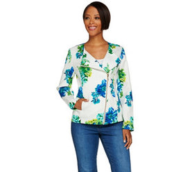 """""""As Is"""" Susan Graver Unlined Stretch Printed Pique"""