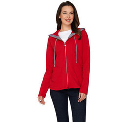 """""""As Is"""" Susan Graver Weekend French Terry Hooded J"""