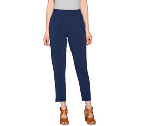 """""""As Is"""" H by Halston Jet Set Jersey Ankle Pant w/"""