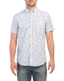 BEN SHERMAN Short Sleeve Scattered Scratch Shirt