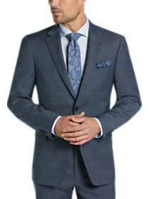 Tommy Hilfiger Blue Windowpane Slim Fit Suit