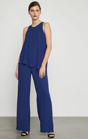 BCBG Hadli Sleeveless Draped Jumpsuit