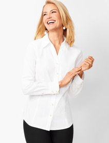 Talbots RSVP Scallop Button-Front Shirt