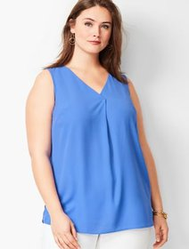 Talbots Plus Size Exclusive Front Pleat Top