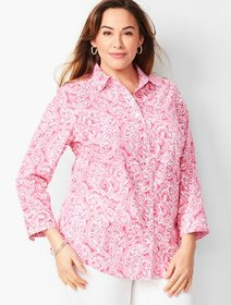 Talbots Plus Size Exclusive Perfect Shirt - Three-