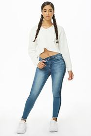 Forever21 Cropped Hooded Pullover