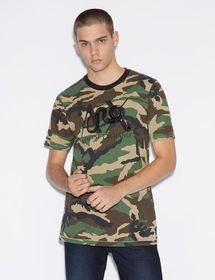 Armani CAMOUFLAGE T-SHIRT WITH LOGO