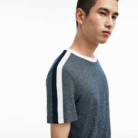 Lacoste Men's Crew Neck Contrast Band Jersey T-shi