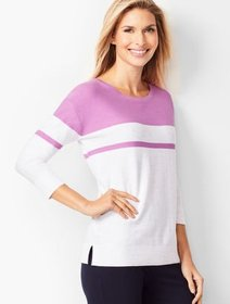 Talbots Space-Dyed Colorblock Sweater