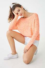 Forever21 Marled Boat Neck Sweater