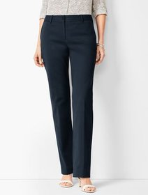 Talbots Cotton Double-Weave Barely Boot Pants