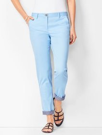 Talbots Girlfriend Chinos - Chambray - Rolled Cuff