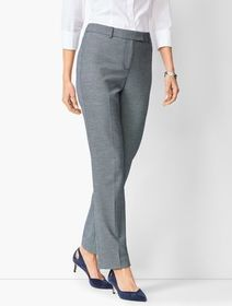 Talbots Bi-Stretch High-Waist Straight-Leg Pants -