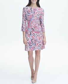 Tommy Hilfiger Printed Jersey Bell Sleeve A-line D