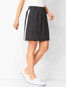 Talbots Lightweight Stretch Dot Woven Skort