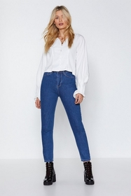 Nasty Gal You Got Good Genes High-Waisted Jeans
