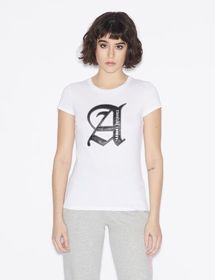 Armani T-SHIRT WITH STYLISED LETTERING