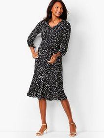 Talbots Floral Fit & Flare Dress