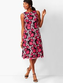 Talbots Floral Lace Fit & Flare Dress