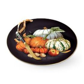 Pumpkin Cheese Board with Knife