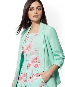 Aquamarine Open-Front Blazer - 7th Avenue - New Yo