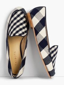 Talbots Ryan Loafers - Gingham Canvas