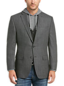 Calvin Klein Charcoal Windowpane Modern Fit Sport