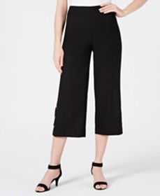 JM Collection Cropped Wide-Leg Capris, Created for