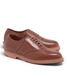 Brooks Brothers Distressed Leather Saddle Shoes