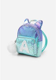 Justice Ombre Cat Initial Mini Backpack