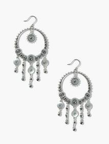 Lucky Brand Pave Disc Statement Earrings