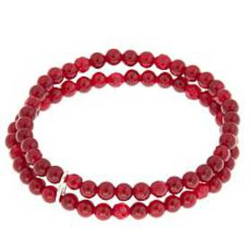 Nicky Butler 4mm Gemstone Bead Double Row Stretch