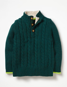 Boden Chunky Button Neck Sweater