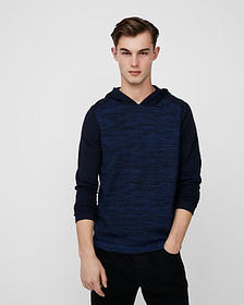 Express color block tech hooded sweater